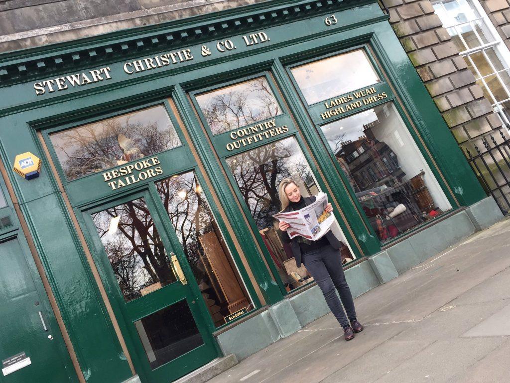 Vixy Rae, Owner, Creative Director, Stewart Christie, Edinburgh Bespoke Tailor